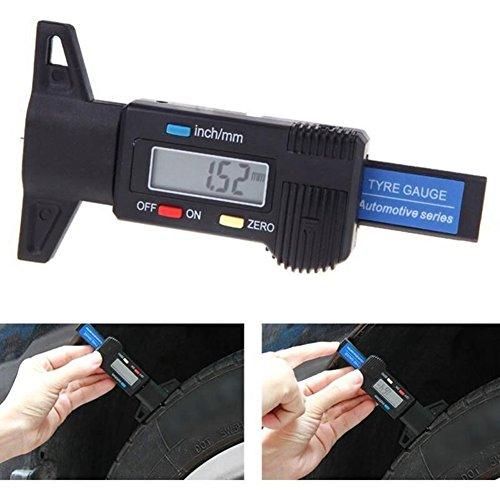 Colomba Reifenprofilmesser Profiltiefenmesser Profilmesser Digital Tiefenmesser 0-25.4mm LCD-Display