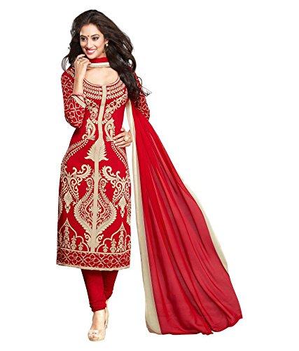 Parihar Unstitched synthetic leon Salwar/Churidar/Patiala Dress Material with Dupatta