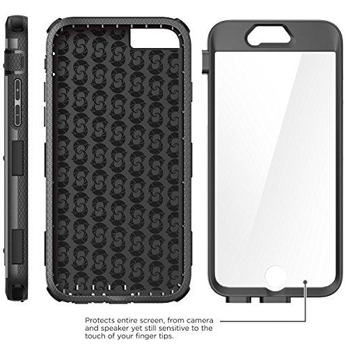 Coque iPhone 6 4.7 et iPhone 6s release 2015 i-Blason [Serie Armorbox] Housse i-Blason avec double couche de protection et protecteur d'ecran integre pour l'iPhone 6 4.7 (blanc) et iPhone 6s release 2 Noir