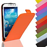 EximMobile - Flip Case Handytasche für HTC One S in Orange | Kunstledertasche HTC One S Handyhülle | Schutzhülle aus Kunstleder | Cover Tasche | Etui Hülle in Kunstleder