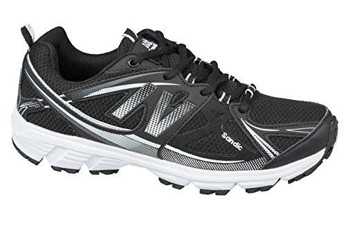 GIBRA® Homme Chaussures de Sport, léger et confortable, Noir/Blanc, Taille 41–46 Noir - Noir/blanc