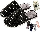 biorelax Mujer Hombre Zapatillas de Estar por casa Invierno Peluche Andar Niños Cerradas nordikas Abiertas pies calienta Niña Pantuflas Slippers para termicas Originales Zapatos Negro 43-44