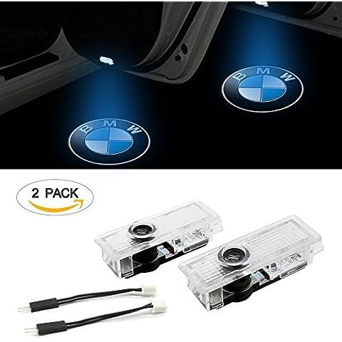 Luce portiera per auto ezykoo 2pezzi auto laser Proiettore fantasma ombra logo Welcome LED Luci di cortesia passo facile installazione per