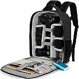 Fotocamera Reflex Borsa Alta Capacità Borsa Fotografica,CADeN Professionale Impermeabile Camera Bag Zaino con Porta di Ricarica USB Parapioggia per Sony Canon Nikon Lens Treppiede e Accessori
