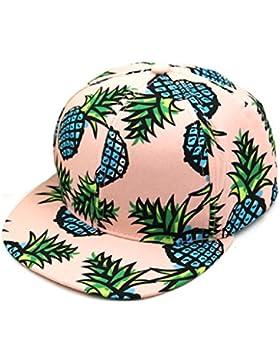 zolimx Gorra de béisbol, Sombrero del hip-hop ajustable impresión piña