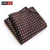 2019 nouvelle serviette de poche en polyester uni costume élégant foulard carré foulard mouchoir FH-13 25 * 25 cm