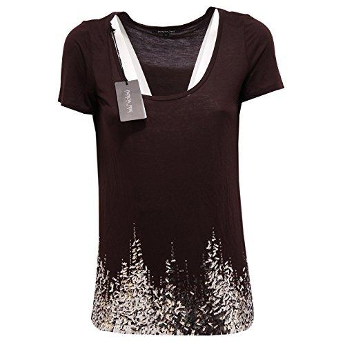 85095 maglia PATRIZIA PEPE MANICA CORTA VISCOSA polo donna t-shirt women [S/1]