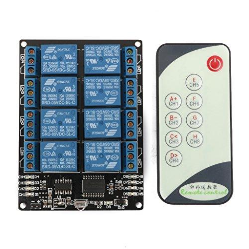 LED Relais Treiber Selbst Verriegelung Modul Mit Infrarot Fernbedienung (Relais-treiber)