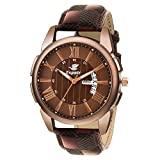 #5: Espoir Analogue Brown Dial Day and Date Men's Boy's Watch - Joseph0507