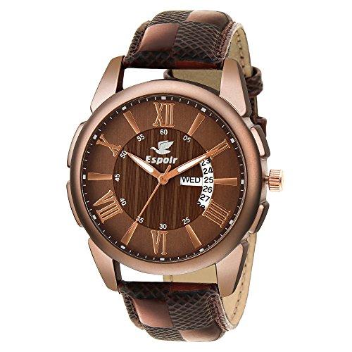 Espoir Analog Brown Dial Men's Watch-LS8081-2