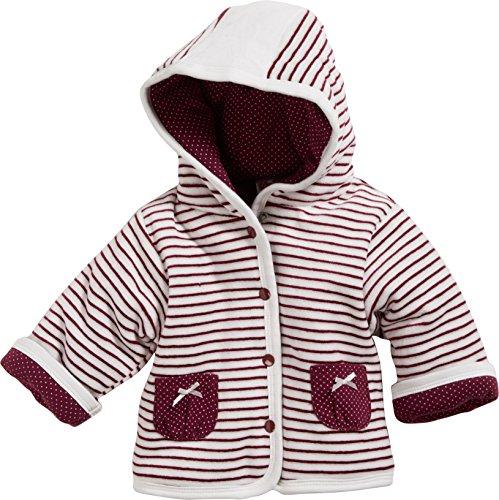 Schnizler Baby-Mädchen Jacke Jäckchen Nicki Ringel Top Secret, Oeko-Tex Standard 100, Rot (Bordeaux 9), 68