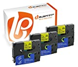 Bubprint 3 Schriftbänder kompatibel für Brother TZE-621 TZE 621 für P-Touch 1280 2430PC 2730VP 3600 9500PC 9700PC D400VP D600VP H100LB H105 P700 P750W