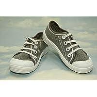Low - High Top Sneakers Trainers Shoes,Kids, Boys, Girls, Unisex, Lanced, Velcro, Rubber, Slip - on, Nice Multicoloured, Sizes from 8/8,5UK - 26EU, 9UK - 27EU, 10UK - 28EU, 11UK - 29EU, - Gray Convenience (8UK/8.5UK - 26EU)
