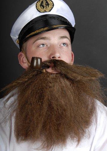 Braun buschigen Höhlenmensch Kostüm falschen Bart (Buschigen Bart Kostüm)