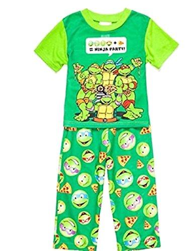 Nickelodeon Schlafanzug Ninja Turtles 92/98 Nachtwäsche Junge Sommer 2 teilig USA Size 3 t Schildkröte Teenage Mutant