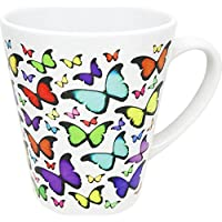 Cadouri - BUNTE SCHMETTERLINGE Tasse Kaffeetasse Kaffeebecher Latte Tasse - konische Form