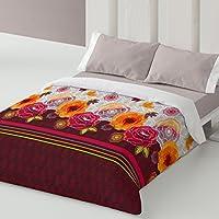 Burrito Blanco - Funda nórdica 330 Granate de cama de 150x190/200 cm