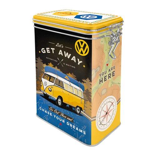 Vogel Vintage Tee (Nostalgic-Art 31102 Volkswagen - VW Bulli - Get Away! | Retro Aromadose| Blech-Dose | Kaffee-Dose | Aromadeckel | Metall)