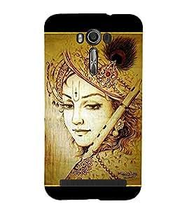 Lord Krishna 3D Hard Polycarbonate Designer Back Case Cover for Asus Zenfone 2 Laser ZE550KL (5.5 inches)