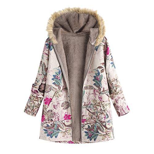 Abrigos para Mujer Invierno Chaqueta Suéter Floral Bolsillos con Capucha Jersey Tallas Grandes Sudadera...