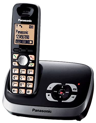 Panasonic Téléphone sans fil KX-TG6521GB avec répondeur Noir (import