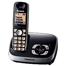 Panasonic KX-TG6521GB Cordless con segreteria telefonica, colore: Nero [Importato da Germania]