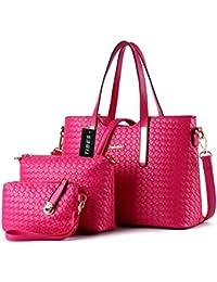 Tibes mode pu cuir sac à main + sac à bandoulière + sac 3pcs sac