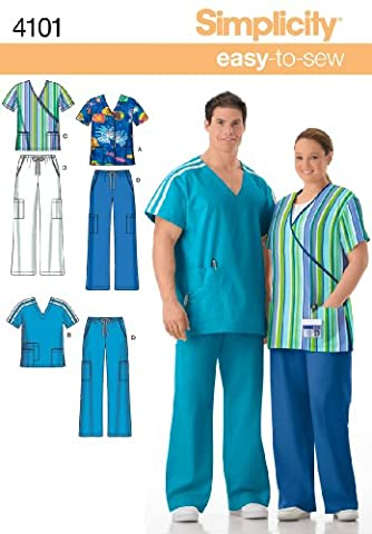 Simplicity Sewing Pattern 4101BB PLUS taille Scrubs
