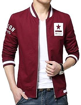 Chaqueta para Hombre , Abrigo de Manga Larga Slim Fit Jacket Outwear M Vino Rojo