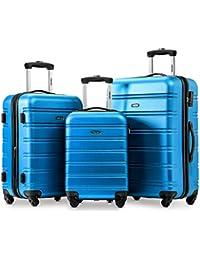 5e19758fc Hard Luggage Set of 3-Expandable Suitcases 4 Wheels Luggage Set (20+24