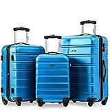 Travelhouse Merax Set of 3 Luggage Expandable Lightweight 4 Wheels Spinner Travel Trolley