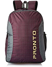 Pronto Arches 29.6 Ltrs Dark Wine Laptop Backpack (8855)