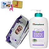 Himalaya Herbals Baby Lotion (400ml)+Himalaya Herbals Soothing Baby Wipes (72 Sheets) With Happy Baby Luxurious Kids Soap With Toy (100gm)