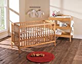 Baby Cot Bed with Deluxe Mattress (Country Pine)
