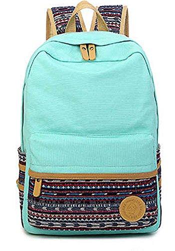Puretime , Damen Rucksackhandtasche Blau marineblau B style Green