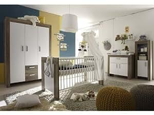 6tlg babyzimmer balu kinderzimmer schrank bett wickelkommode wildeiche tr ffel baby - Amazon kinderzimmer ...