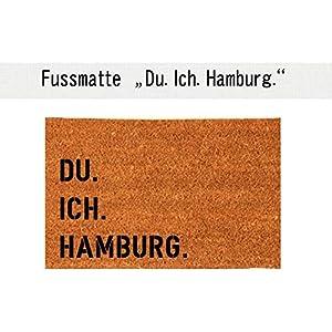 DU. ICH. HAMBURG. Kokos-Fußmatte Teppich Fußabtreter 40 x 60 cm