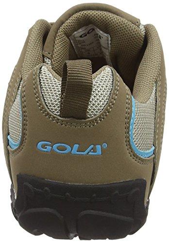 Gola Elias, Chaussures de Randonnée Basses Femme Beige (Taupe/blue/black)