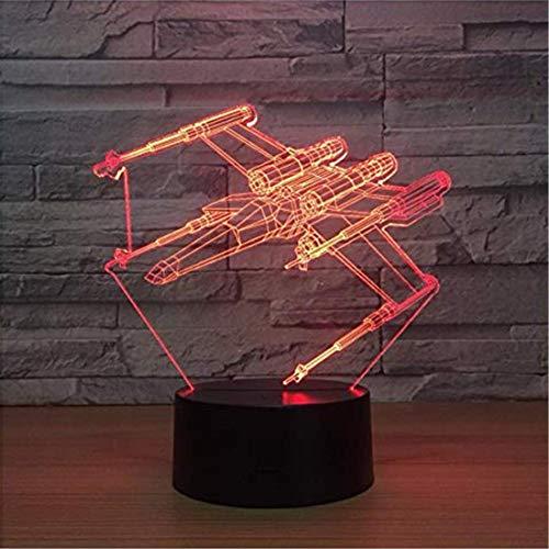 Led Lampe Murale Chandelier3D Illusion Lampe 7 Couleur Plan Led Led Veilleuses 3D Star Wars Touch Table Usb Lampara Lampe Bébé Veilleuse Veilleuse