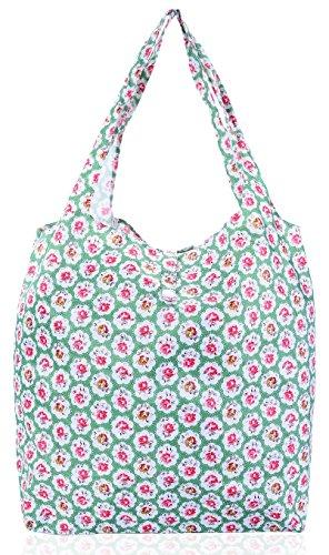 Big Handbag Shop faltbar wiederverwendbar Eco Planet Friendly Compact Einkaufstaschen Mini Rose - Green