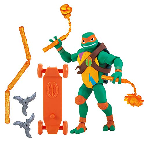 80803 Rise of The Teenage Mutant Ninja Turtles - Michelangelo - Actionfigur mit Zubehör, etwa 10 bis 12cm ()