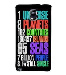 Fuson Designer Back Case Cover for Samsung Galaxy Note 4 :: Samsung Galaxy Note 4 N910G :: Samsung Galaxy Note 4 N910F N910K/N910L/N910S N910C N910Fd N910Fq N910H N910G N910U N910W8 (Universe Planets Countries Islands seas)