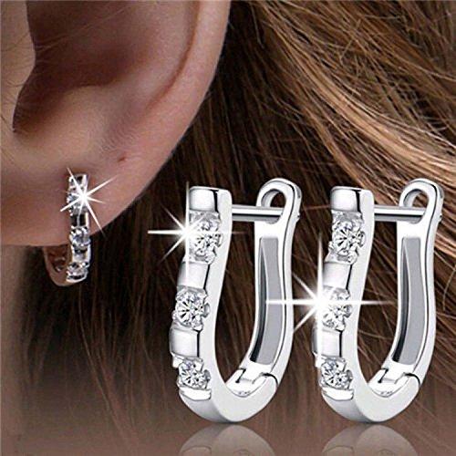 COFCO Eleganter überzogener Kristall Tropfen Ohrringe Ohrclip Bolzenohrring