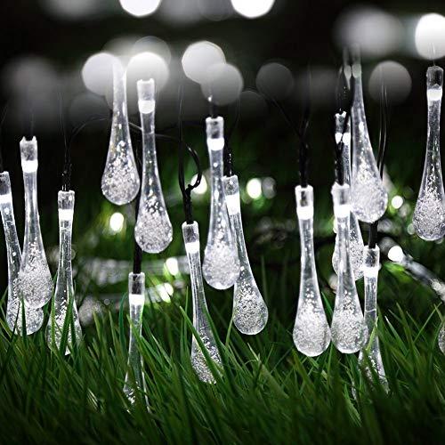 Berocia guirnalda luces exterior solar led luces led solares para exteriores jardin Luces Decorativas Guirnaldas Decoracion Cadena Luces luci natalizie esterno 6.5m 30 LED 8 Modalità ip65 Impermeabile