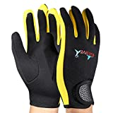 VGEBY 1 Paar Tauchen Handschuhe Neopren Schnorcheln Kajak Surfen Wassersport Handschuhe(Black Yellow...