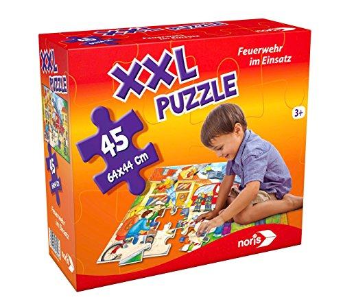 Noris Spiele 606038000 - Riesenpuzzle Feuerwehr, 45-teilig Kinder Spiele Puzzles