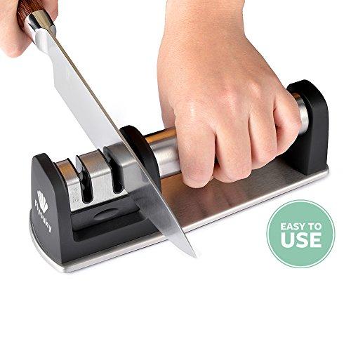 Küche Messerschärfer Professional 2Stage Stahl Diamant Keramik beschichtet Werkzeug zum Schärfen Cook Chef Messer schärfen Kit einfach zu verwenden extrem schnell Schnell - Tv Messer As Küche Seen On
