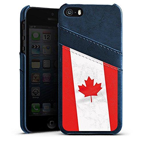 Apple iPhone 4 Housse Étui Silicone Coque Protection Canada Drapeau Canada Étui en cuir bleu marine