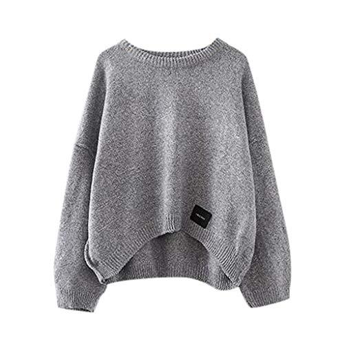 Machen Hobo Kostüm - Splrit-MAN Damen Stricken Pullover Casual Langarm Lose Knitted Jumper Winter Lose Pullover Tops Oversize Outwear Sweatshirt zum Herbst und Winter