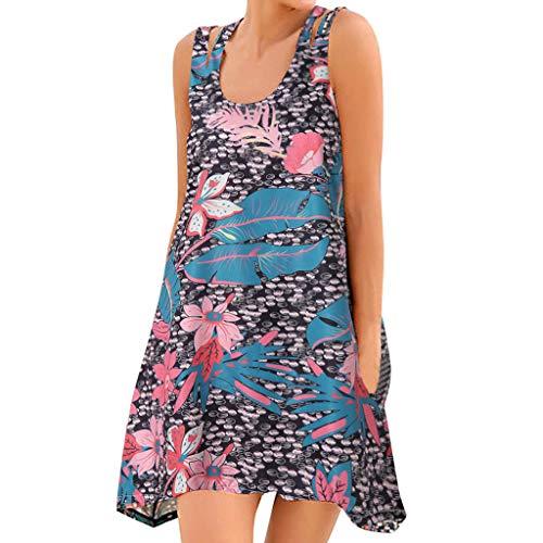 Women's Summer Sexy Fashion Print Vest Dress Sleeveless Dress, Spring ()